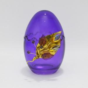 Αυγό μεσαίο γυάλινο ανοιγόμενο μοβ Πασχαλινά δώρα Διακοσμητικα - papadopoulis.gr