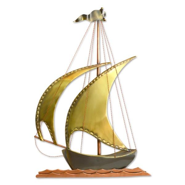 Βάρκα μεσαία με δύο πανιά Διακοσμητικά Τοίχου Διακοσμητικα - papadopoulis.gr