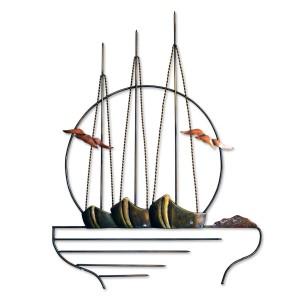 Τρεις βάρκες σε κύκλο Διακοσμητικά Τοίχου Διακοσμητικα - papadopoulis.gr