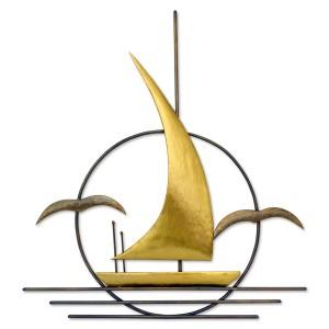 Καράβι με γλάρους σε κύκλο Διακοσμητικά Τοίχου Διακοσμητικα - papadopoulis.gr