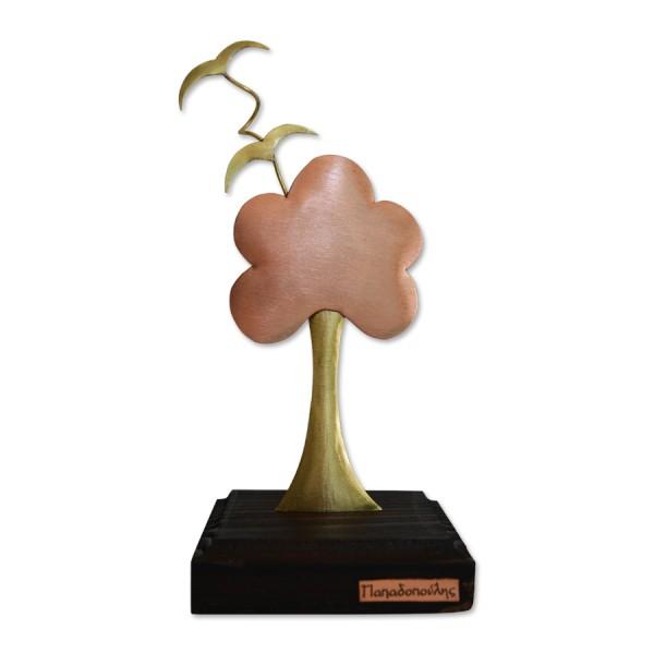 Δέντρο με πουλιά σε ξύλινη βάση Επιτραπέζια Διακοσμητικά Διακοσμητικα - papadopoulis.gr