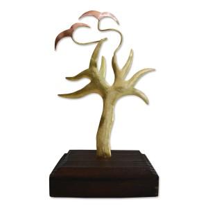 Δέντρο κλαδιά με πουλιά σε ξύλινη βάση Επιτραπέζια Διακοσμητικά Διακοσμητικα - papadopoulis.gr