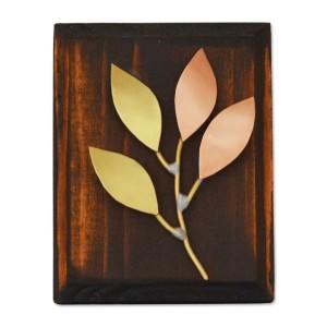 Μικρό κλαδί ξαπλωτό με χειροποίητα φύλλα σε ξύλινη βάση Επιτραπέζια Διακοσμητικά Διακοσμητικα - papadopoulis.gr