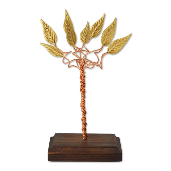 Δέντρο με μικρά φύλλα σε ξύλινη βάση Επιτραπέζια Διακοσμητικά Διακοσμητικα - papadopoulis.gr