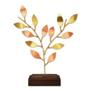 Κλαδί όρθιο μεγάλο με χειροποίητα φύλλα σε ξύλινη βάση Επιτραπέζια Διακοσμητικά Διακοσμητικα - papadopoulis.gr