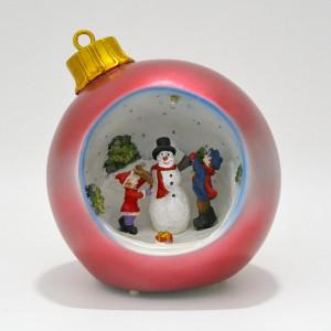 Χριστουγεννιάτικη μπάλα φωτιζόμενη κόκκινη.