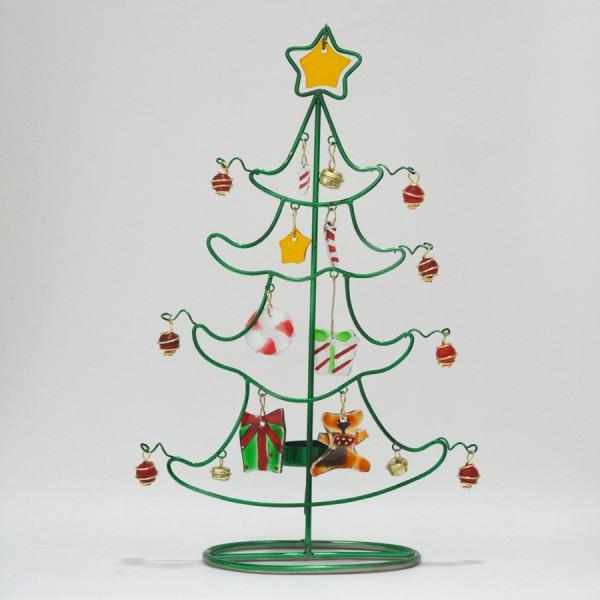 Χριστουγεννιάτικο δέντρο με γυάλινα στοιχεία Γούρια 2021 Διακοσμητικα - papadopoulis.gr