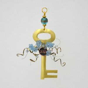 Κλειδί μικρό με σύρμα και λουλούδι Γούρια 2021 Διακοσμητικα - papadopoulis.gr