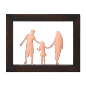 Κάδρο με οικογένεια με ένα παιδί