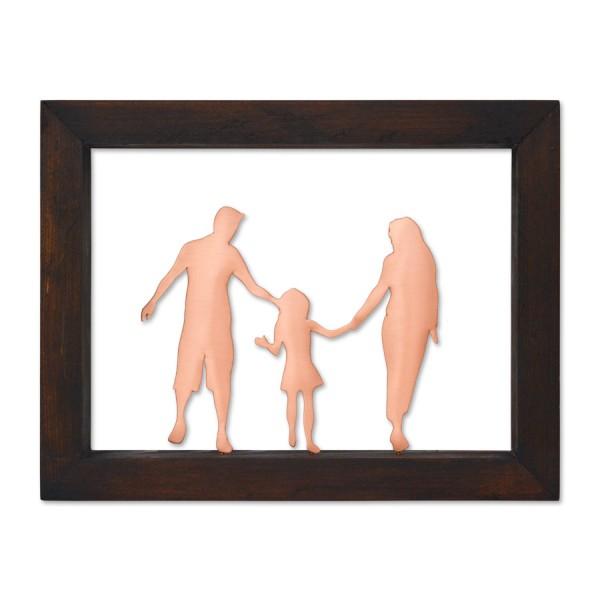 Κάδρο με οικογένεια με ένα παιδί Κάδρα Διακοσμητικα - papadopoulis.gr
