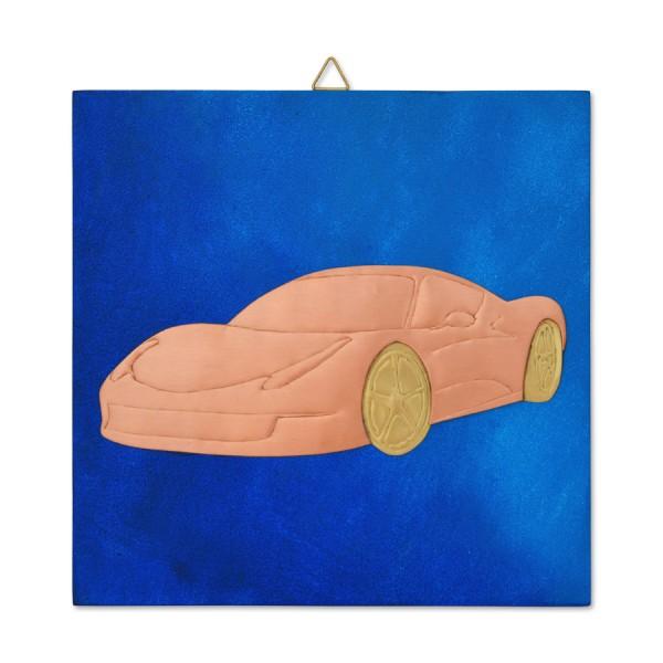 Χρωματιστό κάδρο με αμάξι Κάδρα Διακοσμητικα - papadopoulis.gr